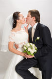 Juste marié. image stock