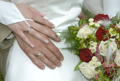 Juste marié Images stock