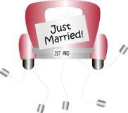 Juste marié Photos stock