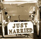 Juste marié Photos libres de droits