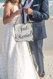 Juste marié Photo libre de droits