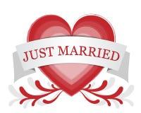 Juste marié illustration de vecteur