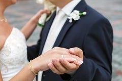 Juste marié, dansant Images stock