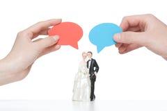 Juste marié (mariage) Photos libres de droits