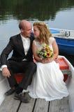 Juste marié Image libre de droits