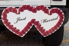 Juste signe marié Images libres de droits