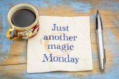 Juste un autre lundi magique image stock