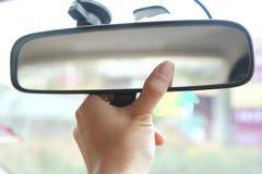 Justera spegeln för den bakre sikten Fotografering för Bildbyråer