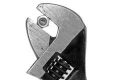 justerbar fast gripmutterskiftnyckel fotografering för bildbyråer