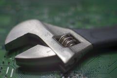Justerbar skiftnyckel för sexhörniga hållare royaltyfri foto