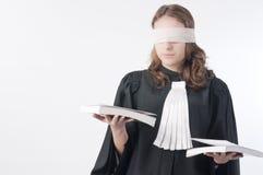 Justiça é cega Fotografia de Stock