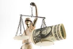 Justiça é cega (? ou talvez não) Fotografia de Stock