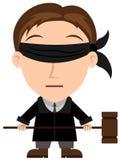 Justiça cega Imagem de Stock Royalty Free