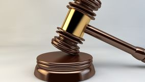 Justiça Law Lawyer do juiz do martelo da corte Imagens de Stock