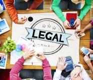 Justiça legal Ethical Concept das leis da legalização fotografia de stock