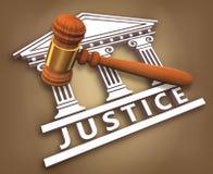 Justiça + martelo Fotos de Stock Royalty Free