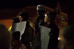 Justiça para Michael Brown - as mãos acima, não disparam Fotografia de Stock