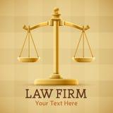 Justiça Scale da empresa de advocacia Imagens de Stock