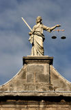 Justice. Statue of Justice on Dublin Castle wall Stock Photos