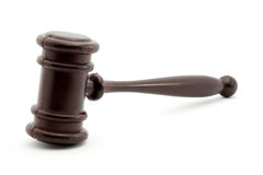 Justice. Gavel studio isolated over white Royalty Free Stock Image