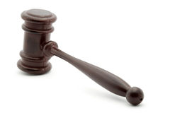 Justice. Gavel studio isolated over white Royalty Free Stock Photography