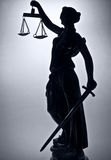 Justice. Statue of justice. The Silhouette Royalty Free Stock Photography