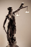 Justice. Statue of justice. The Silhouette Stock Photos
