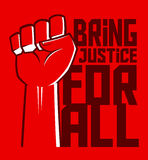 Justice For All Hand Poster Stock Photo