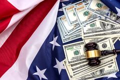 Justice is the American flag  currency Stock Photo