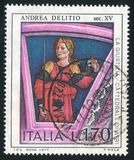 Justice by Andrea Delitio. ITALY - CIRCA 1977: stamp printed by Italy, shows Justice by Andrea Delitio, circa 1977 Royalty Free Stock Photography
