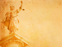 Justice. Art old paper background. justice Royalty Free Stock Image