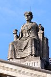 Justice Atop Courthouse夫人 库存照片