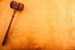 Justice Backgrounds. (Gavel on  Burning Old Paper Royalty Free Stock Photography