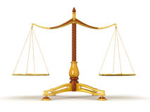Justice Balance (clipping path included) Royalty Free Stock Photos