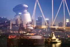 Justice. Balance courtroom law antique authority bronze Royalty Free Stock Image