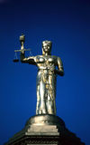 Justice is blind. The statue of blind justice Stock Photography