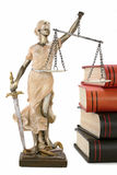 Justice is blind ( ... or maybe not ). Justice (greek:themis,latin:justitia) blindfolded with scales and sword stock photos