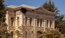 Justice Building Napa California Earthquake damage. The historic Justice building in Napa valley suffered major structural damage after the 6.1 earthquake Stock Photos
