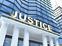 Justice building Royalty Free Stock Image