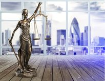 Justice concept. Advocate antique arbitration background balance blind Royalty Free Stock Images