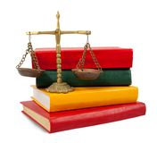 Justice concept, book and scales of justice Royalty Free Stock Photos