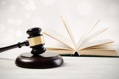 Justice concept in court library. Law attorney court lawyer gavel judge justice legal conception Stock Photography