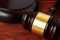 Justice concept. Gavel on a wooden table. Justice concept Stock Image