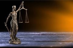 Justice concept. Advocate antique arbitration background balance blind Royalty Free Stock Photography