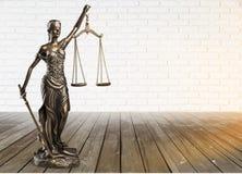 Justice concept. Advocate antique arbitration background balance blind Stock Images