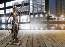 Justice concept. Advocate antique arbitration background balance blind Royalty Free Stock Image