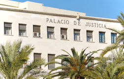 Justice court in Andalusian place. Almeria Justice Court in Andalusian spanish province. Old colonial building Stock Image