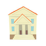 Justice court building cartoon vector Illustration Royalty Free Stock Photos