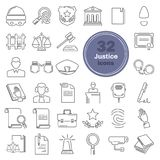 Justice and court line icons set. For web and mobile Royalty Free Stock Images