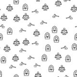 Justice In Courthouse Seamless Pattern Vector vector illustration